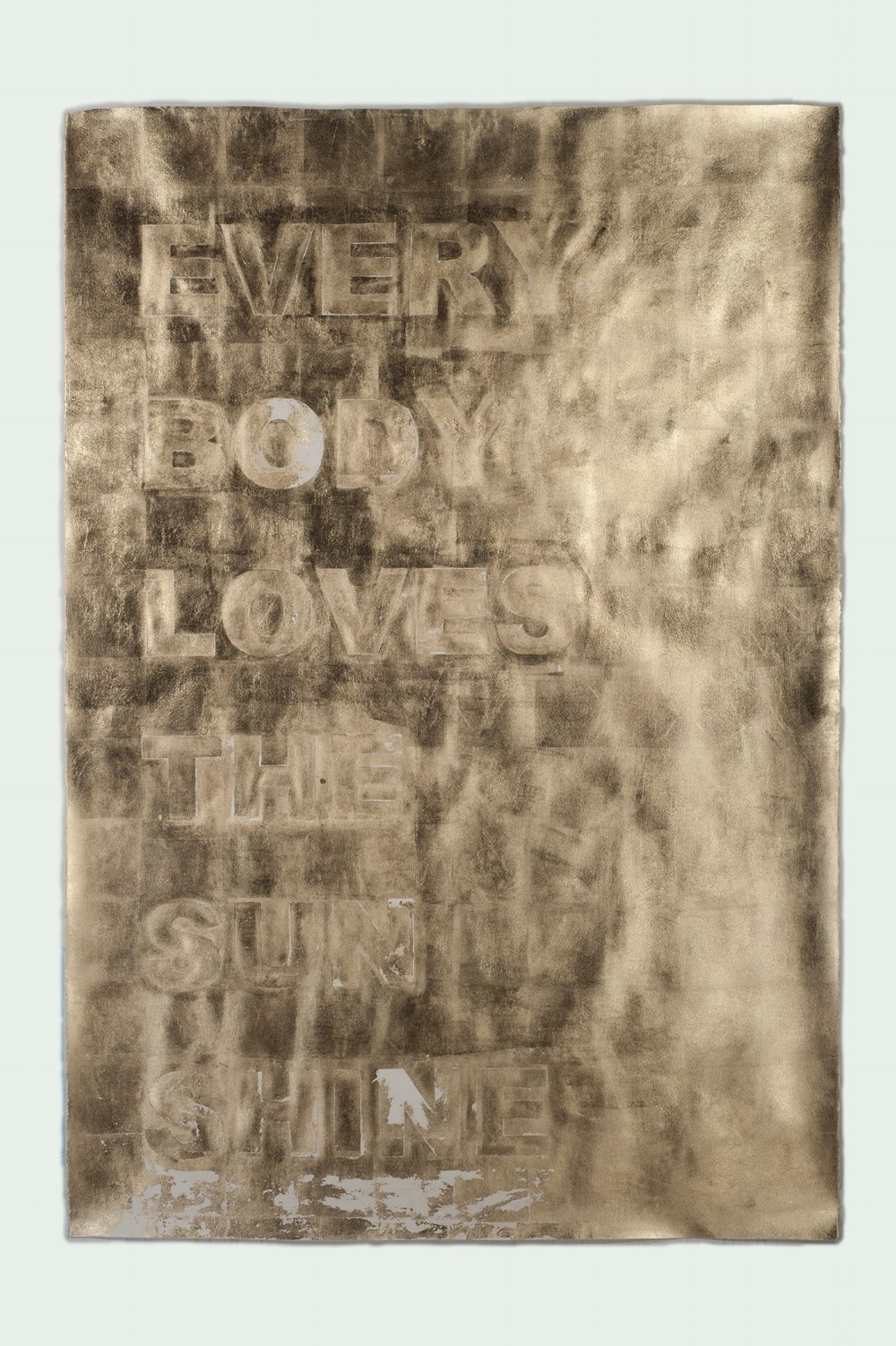 EVERY BODY LOVES THE SUNSHINE (Vertical Stack / Split), 2016