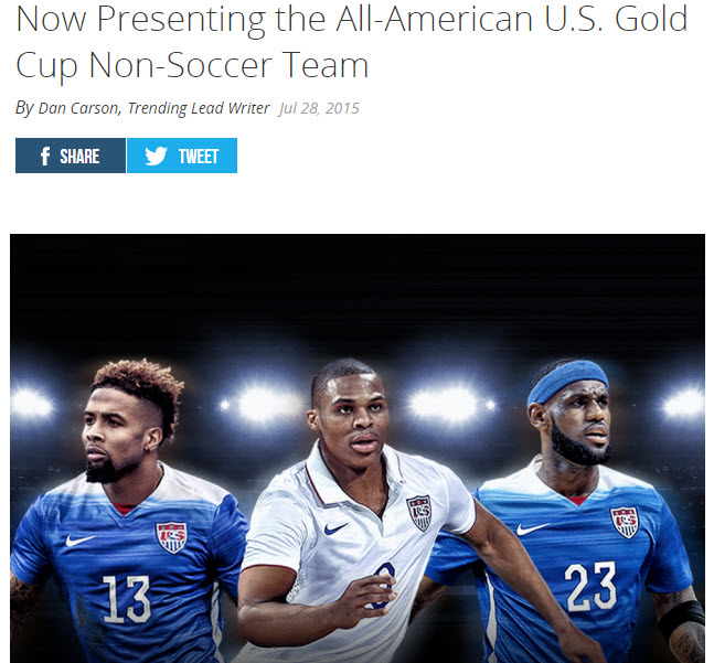 In This Photo: More work spent on the photoshop of players faces than the actual idea behind the article