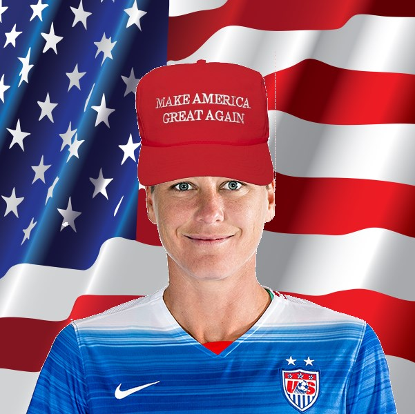 """We need to build a wall of red tape against these foreign fullbacks."" - Abby Wambach"