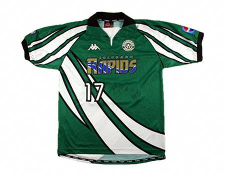 Back when the Rapids wore green, Pepsi was a league sponsor, and the team played at Mile High Stadium. MEEEEEMORIESSSSSSSSSSSSS