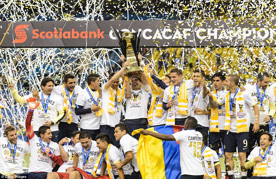 Club America celebrates despite knowing they were going to win all along.