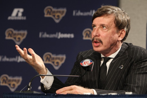 Mr. Kroenke seen here allegedly demanding bribes, sexual favors and a lifetime supply of ribs from the city of St Louis in order to not move his NFL team.