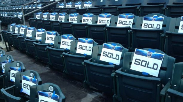 I can't NOT go to the games... Look... they are hanging sold signs on the seats! WHO KNOWS WHAT THAT MEANS.