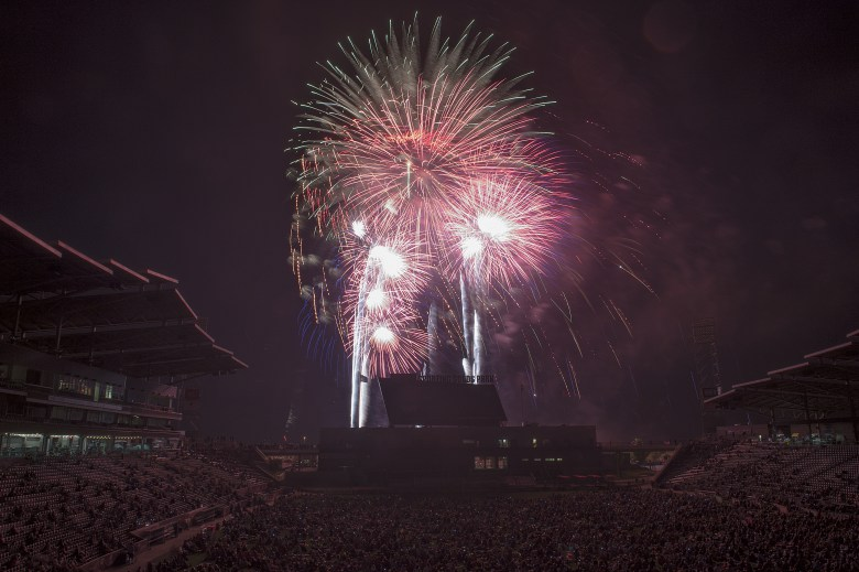 The only fireworks that the fans will remember Photo: Daniel Petty, The Denver Post