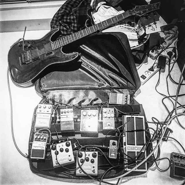 Tom's pedalboard lately #strymon #album1 #demos