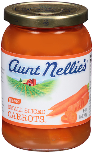aunt nellie's glazed carrots