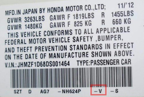 Honda vehicles usually have the trim code sticker on either the the driver side door or the driver side door pillar.