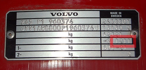 "Most of the time the trim codes are tied to the VIN #, but getting the interior trim code is still helpful. This vin plate can be found under the hood, usually riveted to the inside left fender above the left wheel well. The interior trim code is a 4 digit code, usually above the 5-digit ""XXX-XX"" paint code."