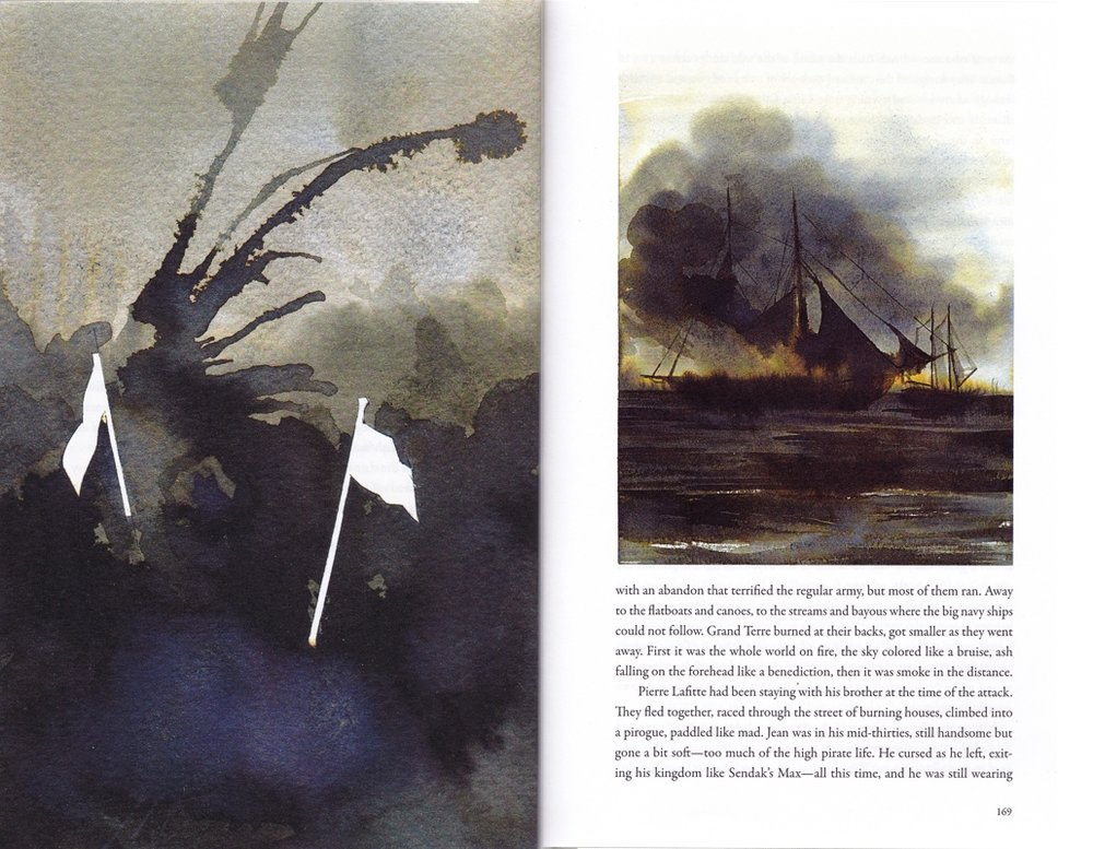 "ILLUSTRATIONS FOR ""PIRATE CITY"",  THE PARIS REVIEW , ISSUE #201"