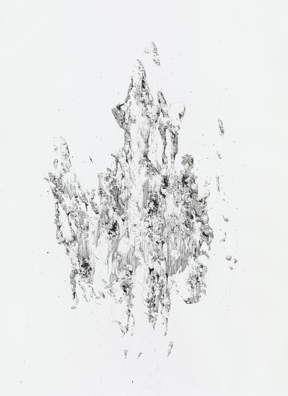 Bettina Krieg | P 163 Untitled | Ink on Paper | 206 x 150 cm | 2014