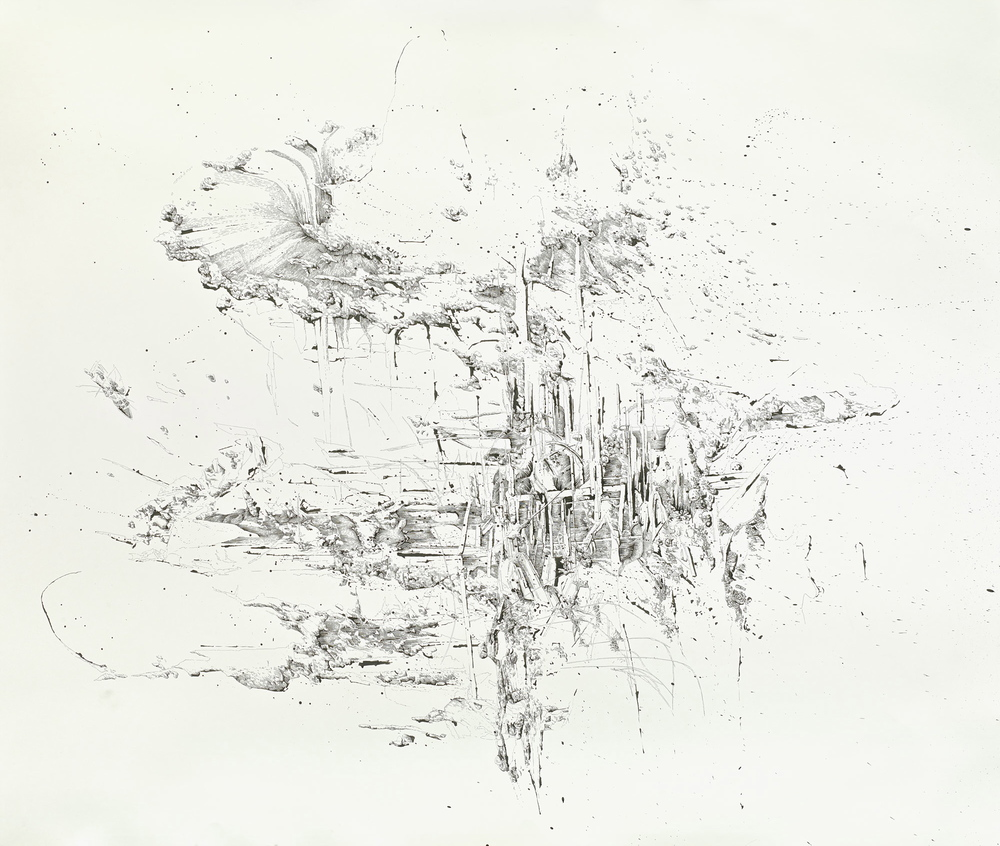 Bettina Krieg | P 128 Untitled | Ink on Paper | 150 x 200 | 2013