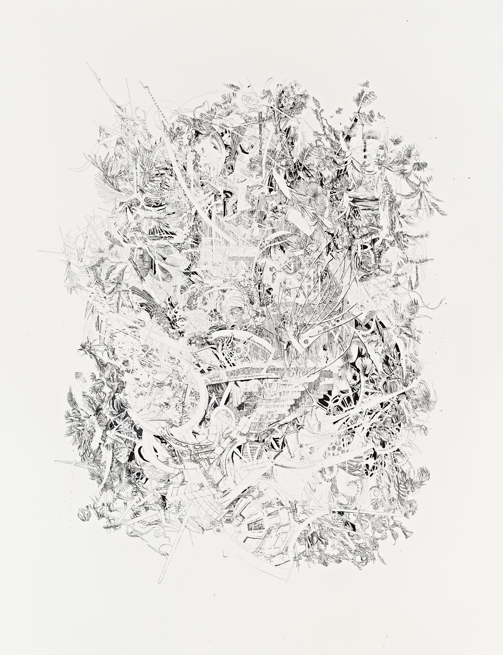 Bettina Krieg | P 89 Untitled | Ink on Paper | 245 x 191 cm | 2012