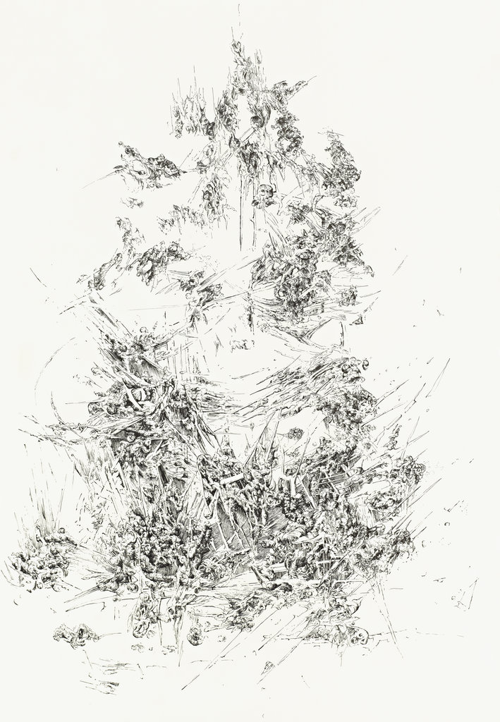 Bettina Krieg | P 93 Untitled | Ink on Transparent Paper | 100 x 70 | 2012