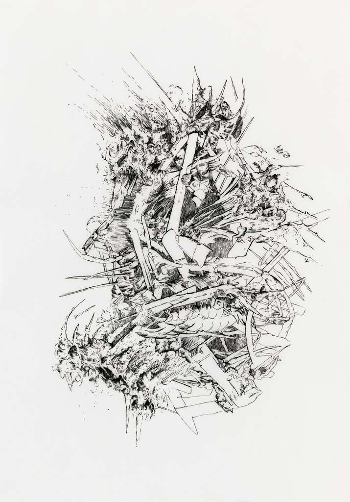 Bettina Krieg | P 106 Untitled | Ink on Transparent Paper | 42 x 29,5 cm | 2012
