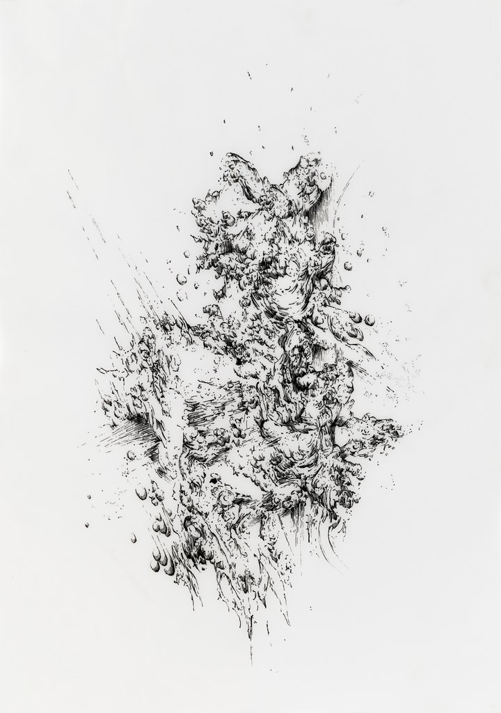 Bettina Krieg | P 107 Untitled | Ink on Transparent Paper | 42 x 29,5 cm | 2012