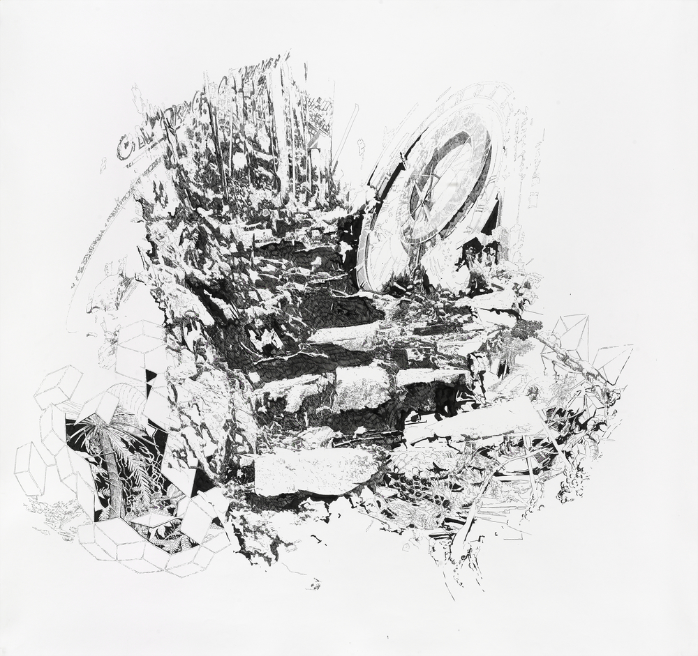 Bettina Krieg | P 77 Untitled | Ink on Paper | 150 x 150 cm | 2011