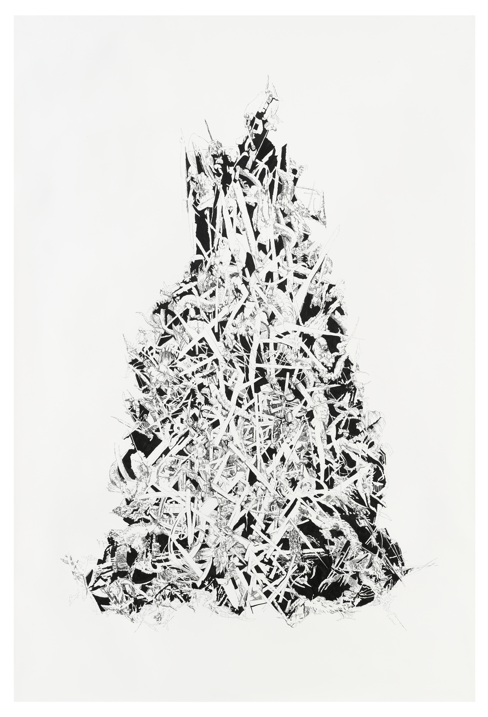Bettina Krieg | P 69 Untitled | Ink on Paper | 250 x 190 cm | 2010