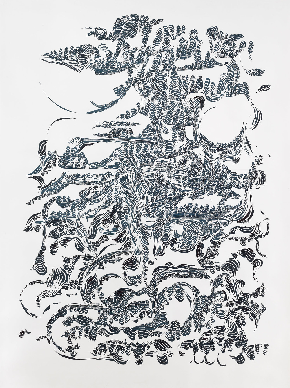 BK P11160 / untitled / ink on paper / 200x150cm / 2015