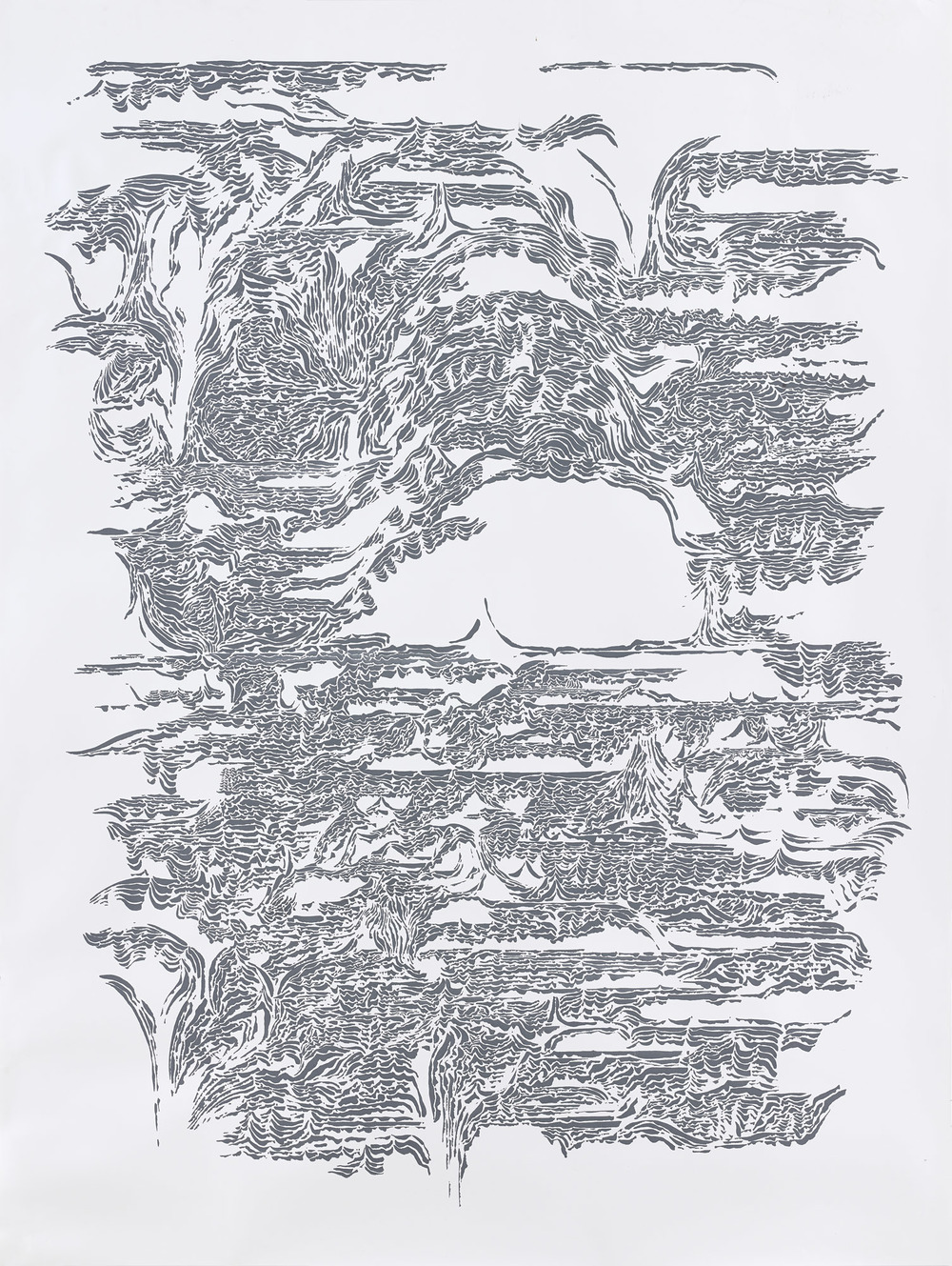 BK P7439 / untitled / ink on paper / 200x150cm / 2015