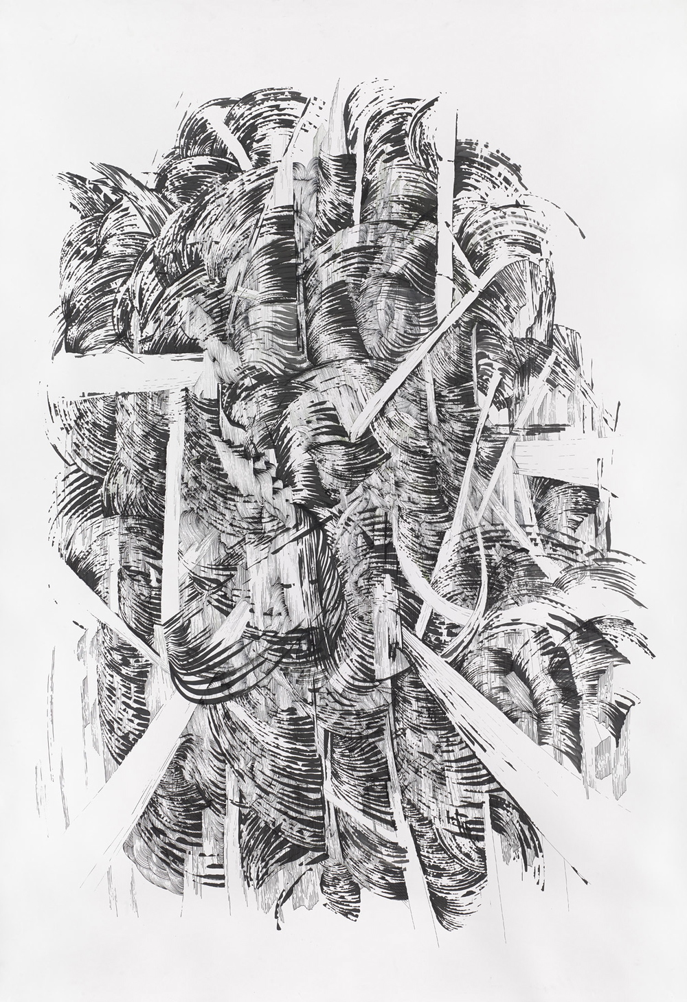 BK P164 1 | untitled | ink on paper | 200x150cm | 2014 | privat collection stuttgart