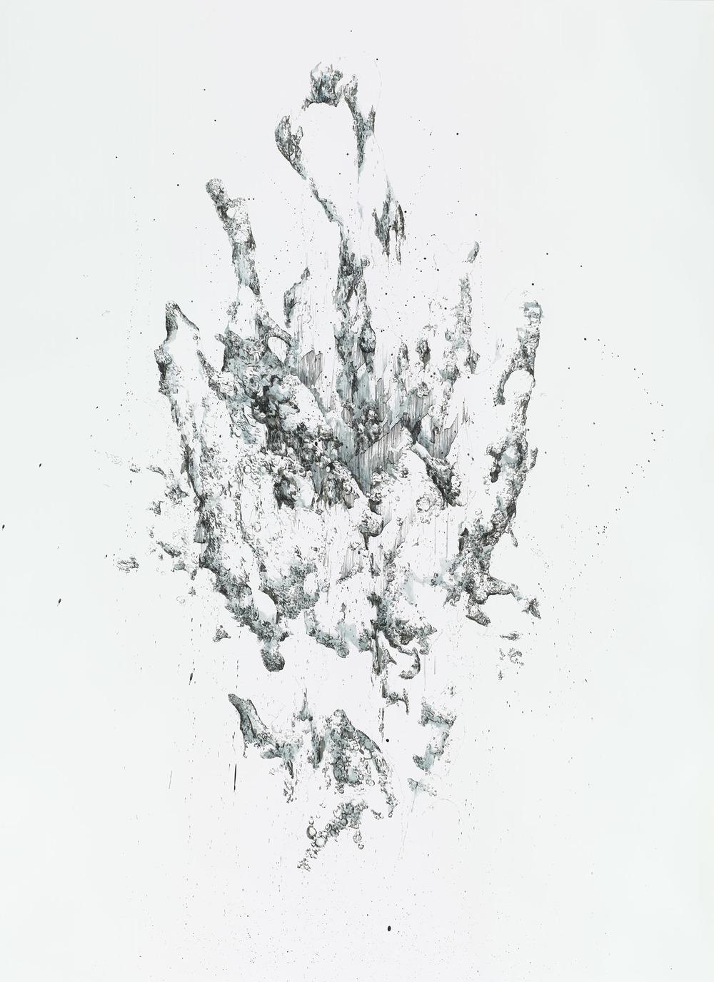 BK P164 | ink on paper | 150x200cm | 2014