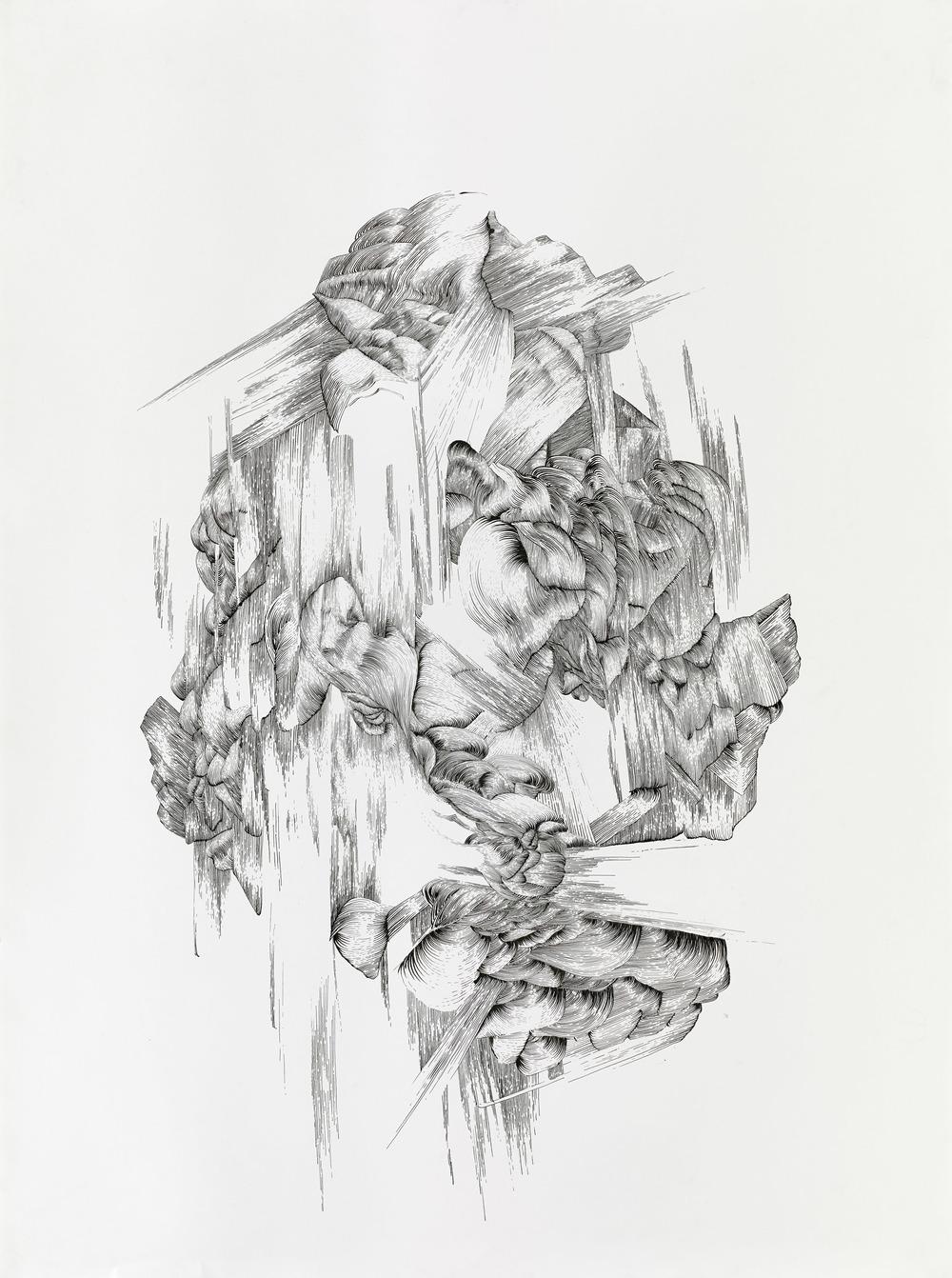 BK P131 | ink on paper | 120x100cm | 2013