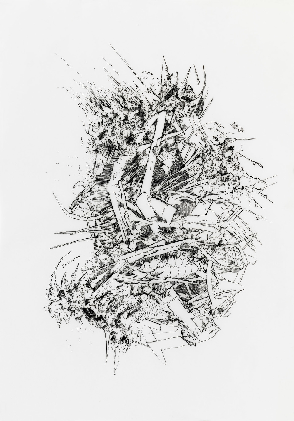 BK P106.001 | untitled | ink on transparent paper | 42x29,5cm | 2012 | privat collection berlin