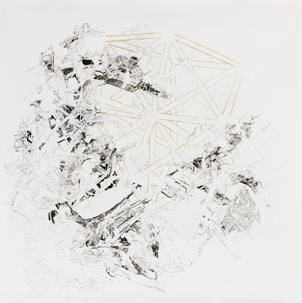 BK P1.001 | untitled | ink & pencil & pen on paper | 120x120cm | 2010 | privat collection berlin