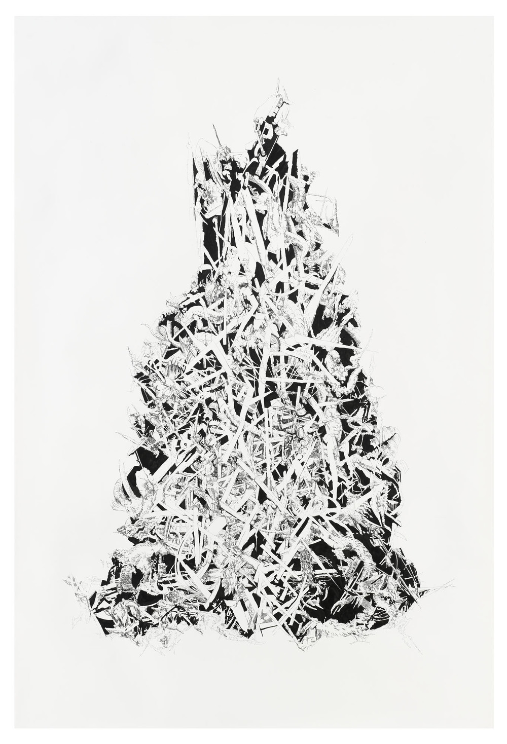 BK P69 | untitled | ink on paper | 250x170cm | 2010 | privat collection munich