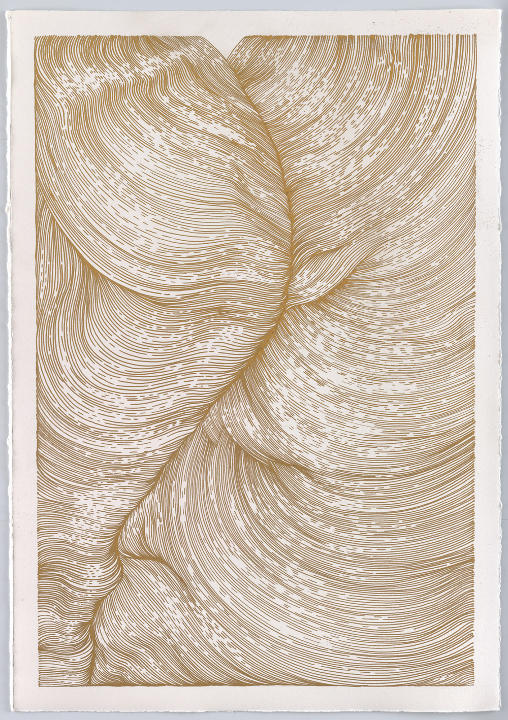BK P13000/untitled/gold gloss paint marker on paper/42x29cm/2016