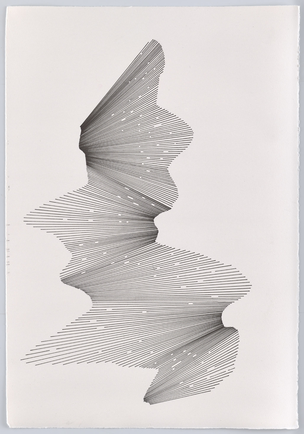 BK P13005 | untitled | pigment liner on paper | 42x29cm | 2016