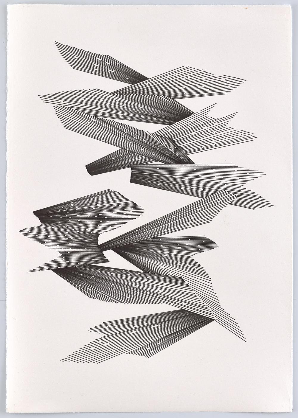 BK P13007 | untitled | pigment liner on paper | 42x29cm | 2016
