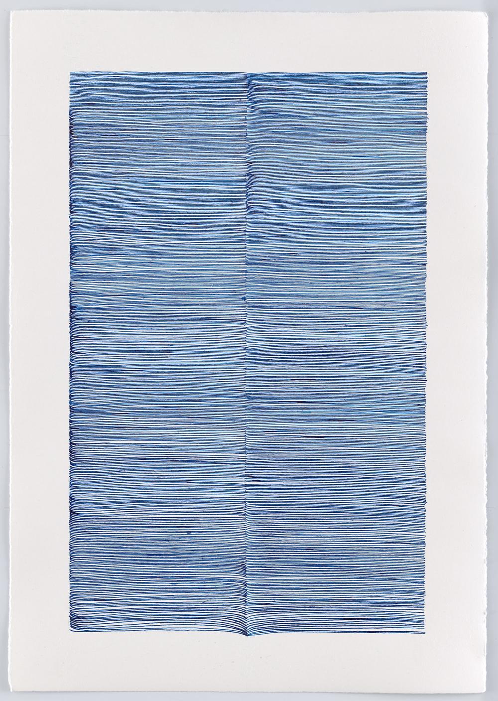 BK P13006 | untitled | blue ink on paper | 42x29cm | 2016