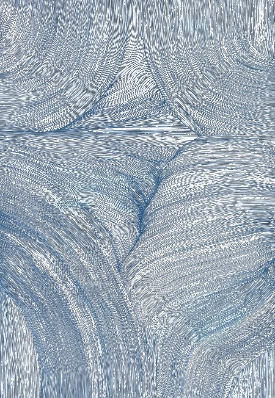 BK P13741 | untitled | metallic blue gloss paint marker | 145x100cm | 2016
