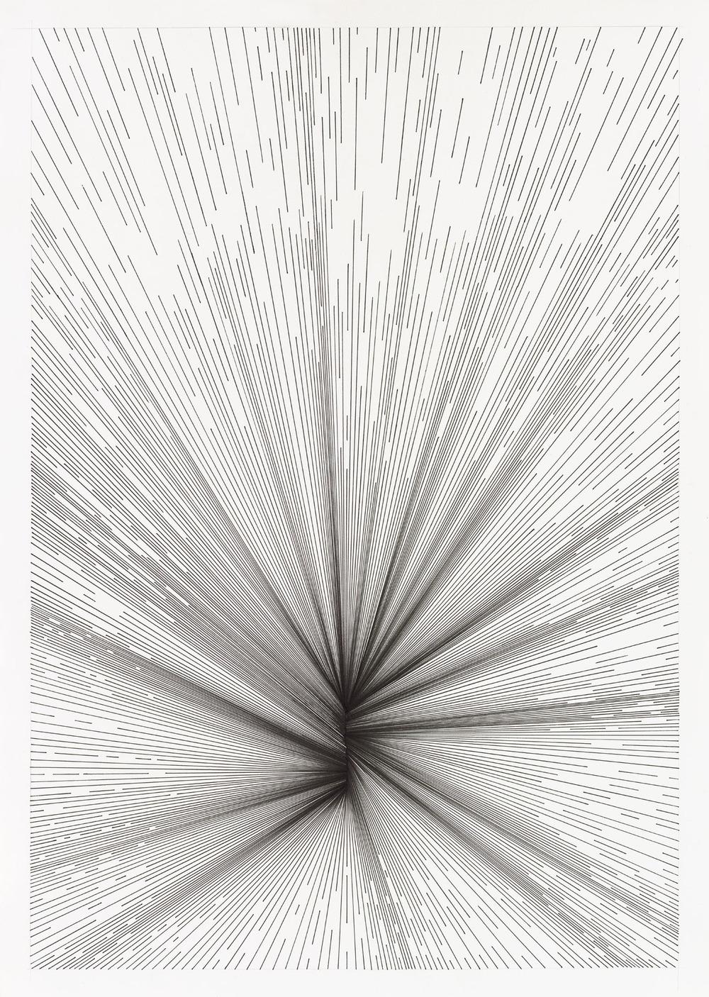 BK P18209 | untitled | pigment liner on paper | 59x42cm | 2016