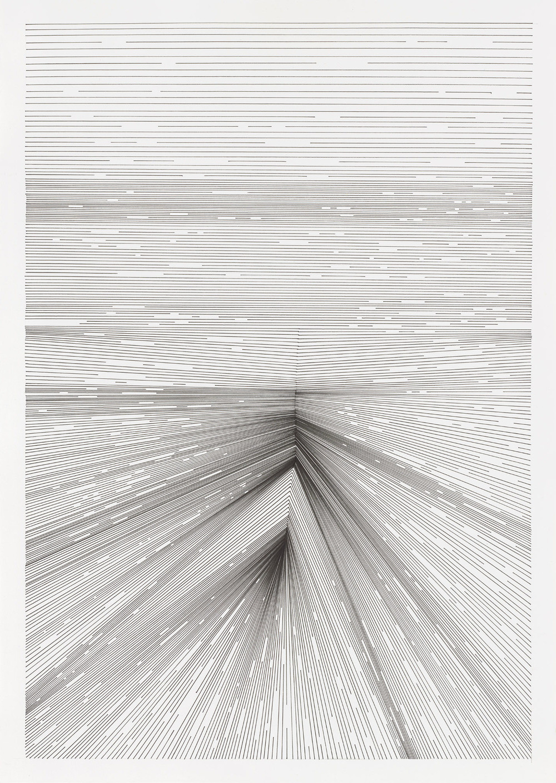 BK P18208 | untitled | pigment liner on paper | 59x42cm | 2016