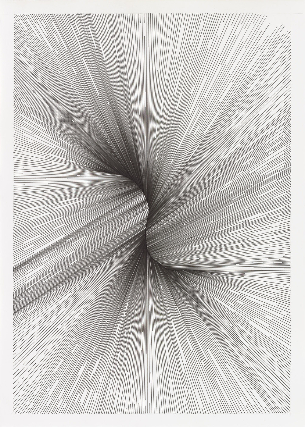 BK P18207 | untitled | pigment liner on paper | 59x42cm | 2016