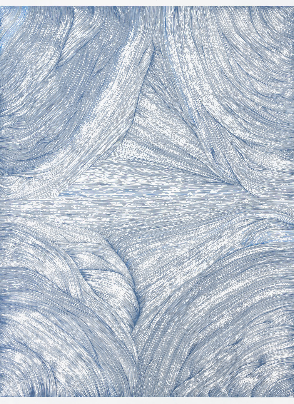 BK P3320   untitled   blue metallic gloss paint marker on paper   200x150cm   2016