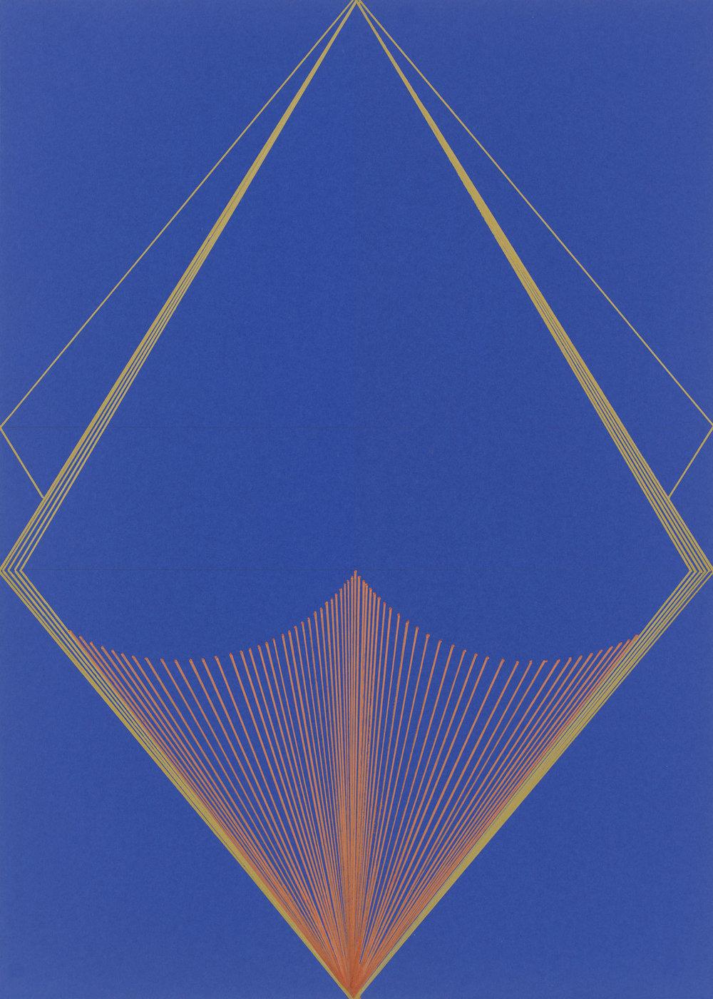 BK P44959 | UNTITLED | ACRYLIC METALLIC ON BLUE CARD BOARD | 70 X 50 | 2019.jpg