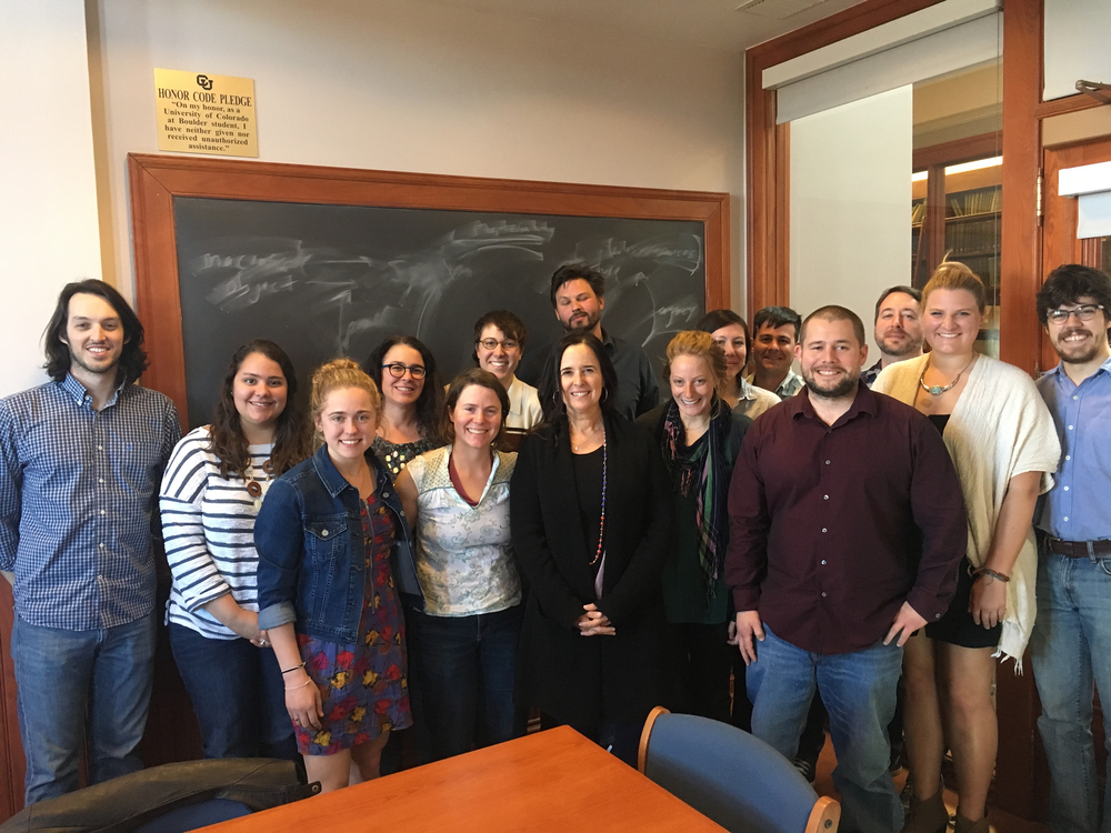 Ruth Behar with Graduate Students in Carole McGranahan's Seminar in Anthropology, April 6, 2016