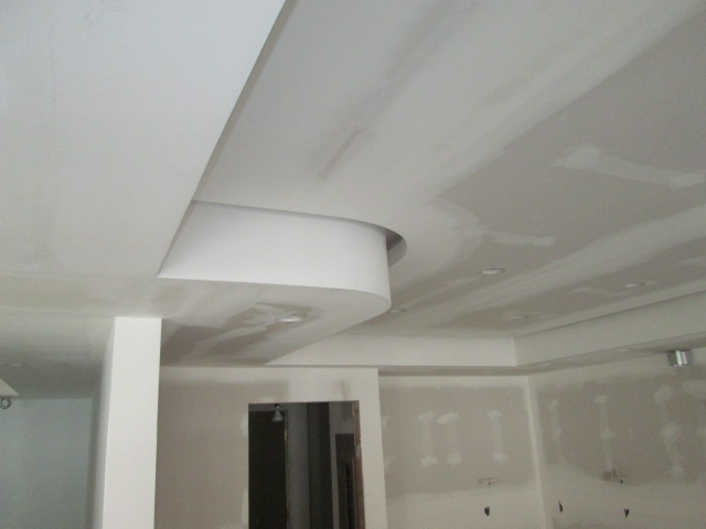 Awesome The Break Line In The Kitchen Soffit Is Where We Will Place Rope Lighting.  This Detail Will Help Visually Float The Center Soffit.