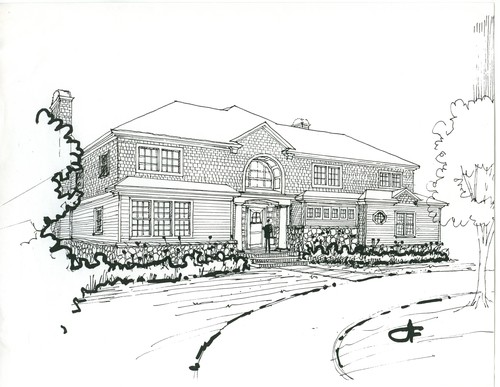 a hand sketch is used to get initial design concepts on paper - House Sketch Design