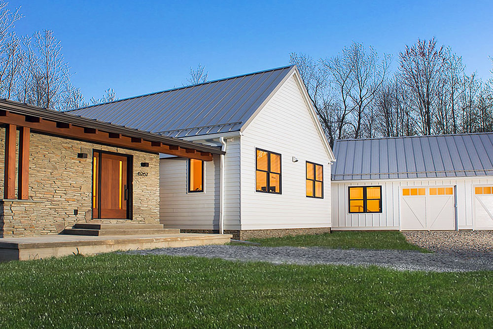 Custom farmhouse with a dog friendly design in Ann Arbor, MI