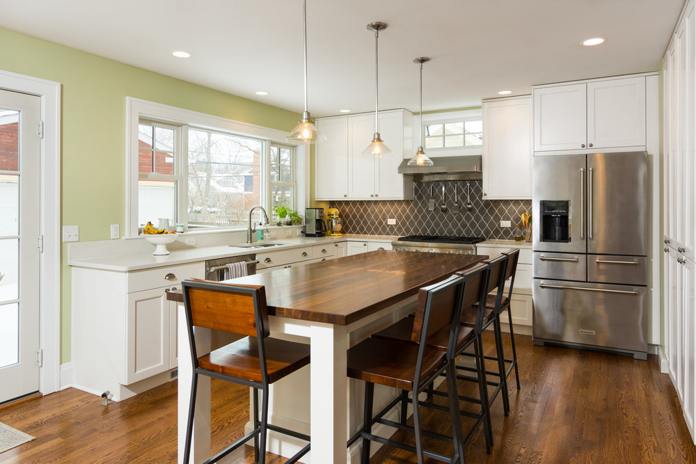 This Traditional Home Underwent A New Addition And A Kitchen Remodel.