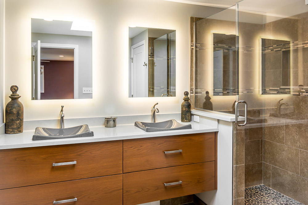contemporary bathroom redesign ann arbor mi