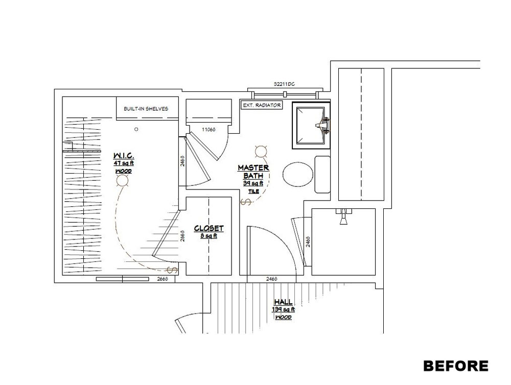 Pre-Existing Bath Floor Plan