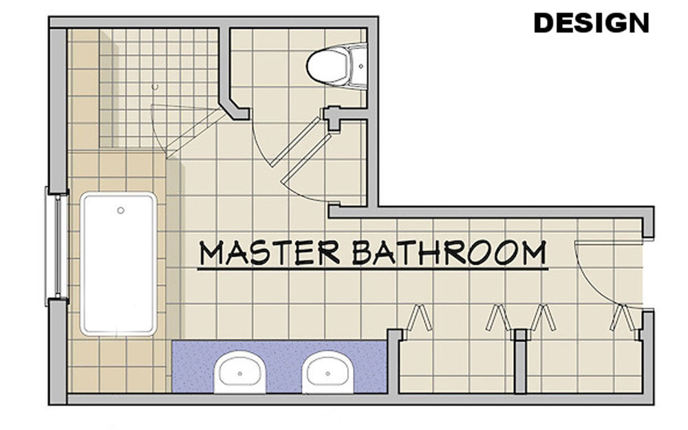 Redesigned Master Bath Floor Plan