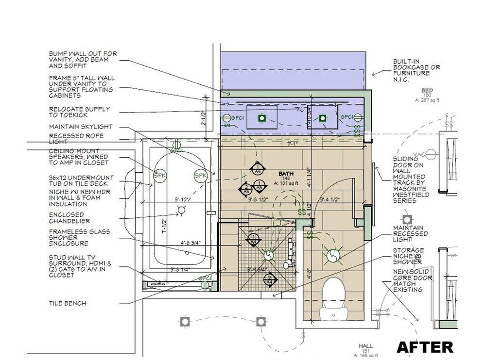 Redesigned Master bathroom Floor Plan