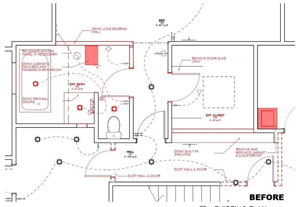 Pre-Existing Bath Floor Plan