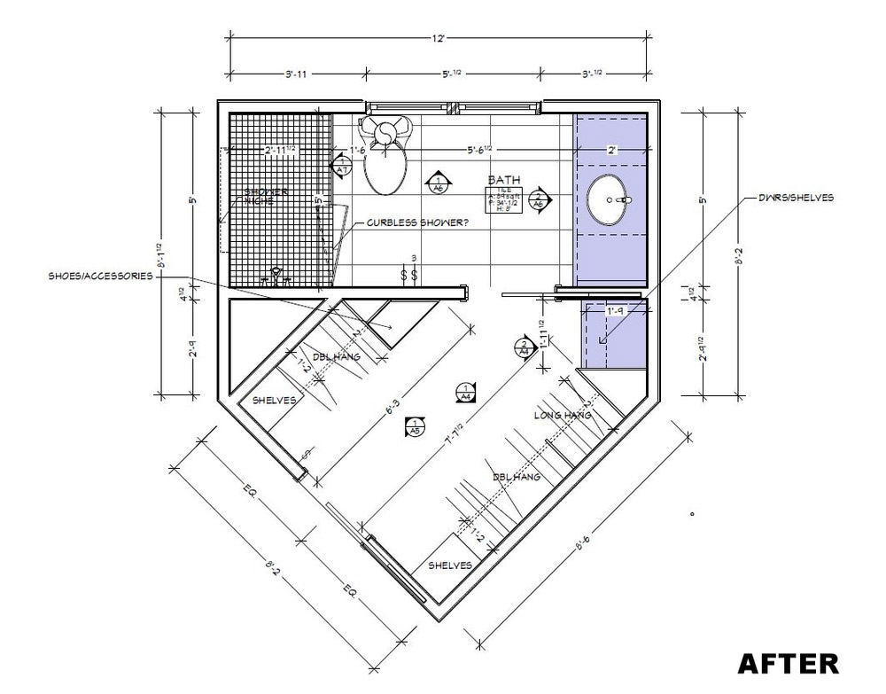 Redesigned Bath Floorplan